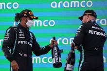 Lewis Hamilton (GBR) Mercedes AMG F1 W12 and Valtteri Bottas (FIN) Mercedes AMG F1.