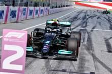 Second fastest Valtteri Bottas (FIN) Mercedes AMG F1 W12 in qualifying parc ferme.
