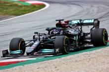 Mercedes believe Hamilton lost 30 points of downforce from F1 kerb strike