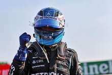 Valtteri Bottas (FIN) Mercedes AMG F1 celebrates finishing first in Sprint.