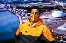 Daniel Ricciardo (AUS) McLaren in the FIA Press Conference.