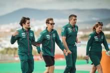 Sebastian Vettel (GER) Aston Martin F1 Team walks the circuit with the team.