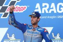 Alex Rins , MotoGP race, Aragon MotoGP. 18 October 2020