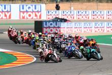 Takaaki Nakagami, race start, Teruel MotoGP race. 25 October 2020