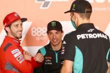 Andrea Dovizioso Franco Morbidelli Fabio Quartararo Europa MotoGP。2020年11月5日