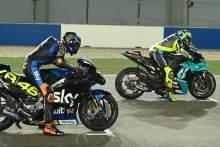 Valentino Rossi, Luca Marini, Qatar MotoGP test, 11 March 2021