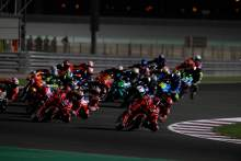 Francesco Bagnaia first lap, MotoGP race, Qatar MotoGP, 28 March 2021