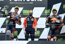 Double podium for KTM Ajo team, Fernandez takes maiden Moto2 win