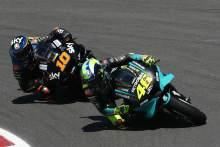Valentino Rossi Luca Marini MotoGP race, Portuguese MotoGP. 18 April 2021
