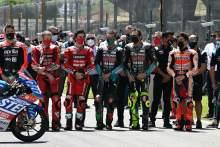 A minutes silence to remember Jason Dupasquier, MotoGP race, Italian MotoGP, 30 May 2021