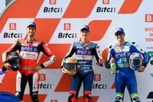 Fermin Aldeguer, Lukas Tulovic, Matteo Ferrari, MotoE, Austrian MotoGP, 14 August 2021