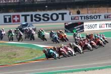Darryn Binder race start, Moto3 race, Aragon MotoGP, 12 September 2021