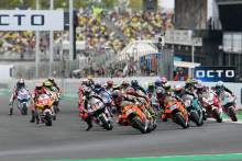 Raul Fernandez race start, Moto2 race, San Marino MotoGP, 19 September 2021