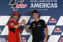 Francesco Bagnaia, Fabio Quartararo, MotoGP, Grand Prix of the Americas 2 October 2021
