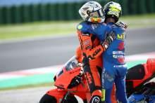 Danilo Petrucci, Joan Mir, Emilia-Romagna MotoGP race, 24 October 2021