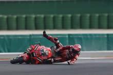 Francesco Bagnaia crash, MotoGP race, Emilia-Romagna MotoGP. 24 October 2021