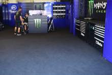 Cal Crutchlow in Maverick Vinales empty garage, , Austrian MotoGP, 12 August 2021