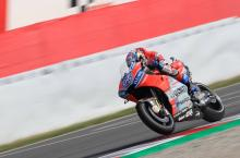 Dovizioso fastest, Rabat surprises in warm-up