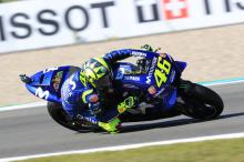 Rossi feeling good after 'positive first day'
