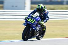 Rossi salvages front row after FP4 tumble