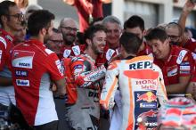 Dovizioso concedes title to Marquez