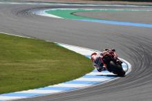 Marquez sees off Rossi for Thailand pole