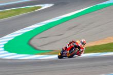Marquez leads Yamahas in morning warm-up