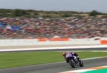 Vinales storms through Q1 to pole position in Valencia