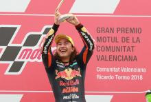 Moto3 Valencia: Outstanding Oncu takes historic win on debut