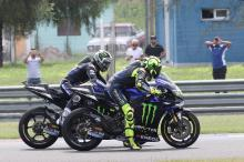 Vinales plans 'aggressive start', Rossi 'good pace'
