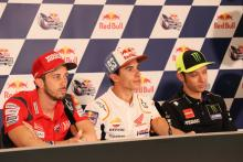 Dovizioso, Marquez, Rossi talk Crutchlow jump-start