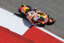 Pole-sitter Marquez leads Dovizioso in warm-up