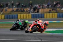 Marquez on pole despite fall in mixed conditions