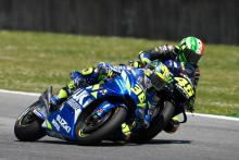 Mir scores points despite Rossi contact