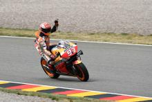 Marquez in charge for pole position, Dovizioso down in 13th
