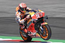 Marquez keeps hold of top spot from Vinales