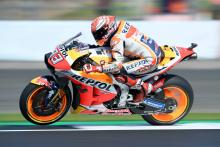 Marquez beats Rossi for British MotoGP pole