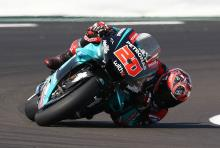 Quartararo edges Marquez in British MotoGP warm-up