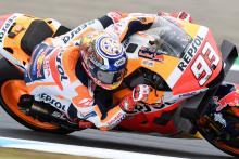 Marquez sees off Yamaha charge for maiden Japanese MotoGP pole
