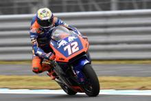 Moto2: Bezzecchi sick in helmet - again
