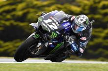 Vinales leads Marquez in weather-hit Phillip Island FP3