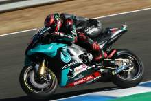Quartararo on pole after Vinales penalised, Marquez withdraws