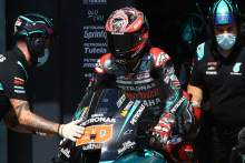 Quartararo shrugs off 'small crash', has pace to fight for victory