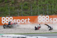 Andrea Dovizioso, Johann Zarco crash, Catalunya MotoGP. 27 September 2020