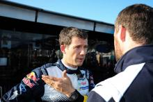 Ogier stretches into early lead, Loeb out