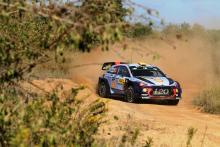 Mikkelsen edges Ostberg to lead on Hyundai debut