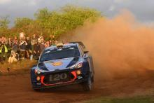Mikkelsen keeps Ogier behind to lead on Hyundai debut