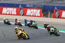 Dominique Aegerter, Philipp Oettl and Steven Odendaal, Dutch WorldSSP Race1, 24 July 2021