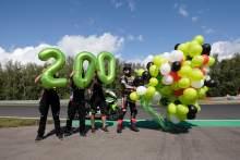 2021年8月8日,乔纳森·雷亚(Jonathan Rea)庆祝200个世界sbk领奖台,捷克世界sbk超级极杆比赛