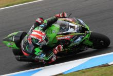Rea fastest despite early crash at Phillip Island test